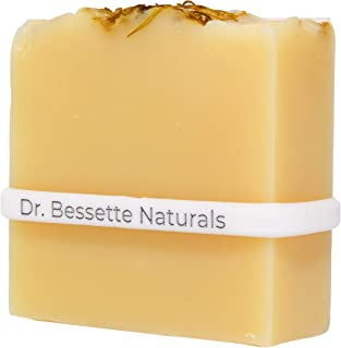 Handmade Baby Bar Soap by Dr. Bessette Naturals Organic Papaya with Sweet Orange Essential Oil for sensitive baby skin, one 4oz bar