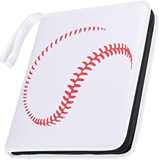 D DACCKIT Baseball Binder Compatible with Trading Cards, Sport Cards Collectors Album with 30 Premium 9-Pocket Pages, Holds Up to 540 Cards