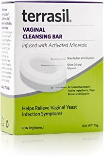 Rapid Relief Feminine Care Vaginal Cleansing Soap All-Natural 100% Guaranteed Doctor Recommended for Yeast infections Vaginal Itch Odor Irritation Soreness Burning restores pH Balance by terrasil®