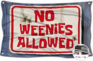 No Weenies Allowed Flag Sponge Bob Tries to Get into The Salty Spitoon 3x5 Feet Banner,Funny Poster UV Resistance Fading &...