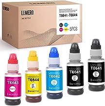5 LEMERO Compatible Reemplazos para Epson 664 T6641-T6644 Tinta para Epson EcoTank ET-2650 L300 L350 L355 L365 L455 L550 L555 L565 L100 L200 ET2550 ET2500 ET4500 (2 negro 1 cian 1 magenta 1 amarillo)