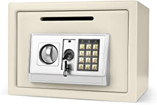 Flexzion Electronic Depository Safe Box with Drop Slot Posting Opening - Digital Keypad Combination Lock Security Cabinet ...