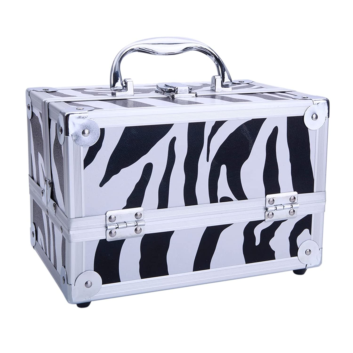 Selling and selling SM-2176 Aluminum Makeup Train Case Jewelry Box Wholesale Cosmetic Organize