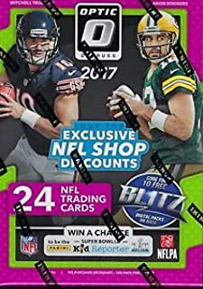 2017 Donruss Optic Football Blaster Box (6 Packs of 4 Cards: 3 Rated Rookies, 3 Rookies, 4 Parallels