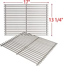 SHINESTAR Grill Grates for 4 Burner Nexgrill 720-0830H, 720-0670A, 17 inch Stainless Steel Cooking Grates Replacement Parts, 2 Pack