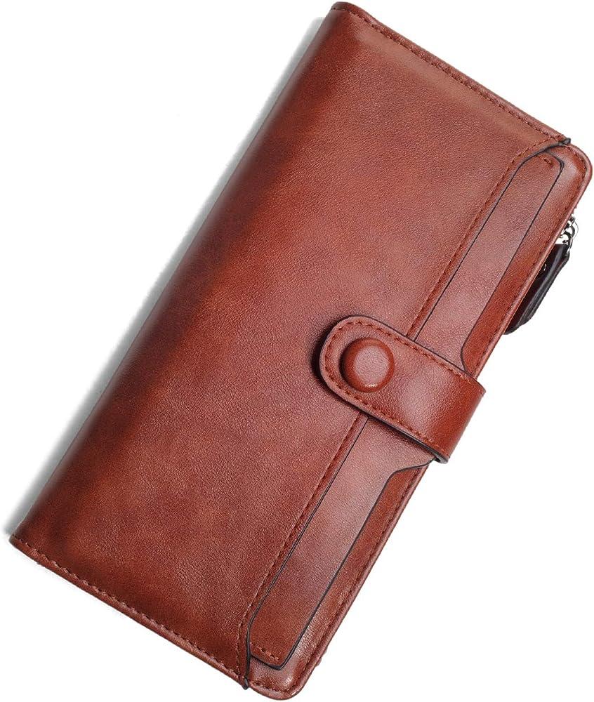 vaschy portafoglio per donna portacarte di credito in pelle sintetica vaukbp130a
