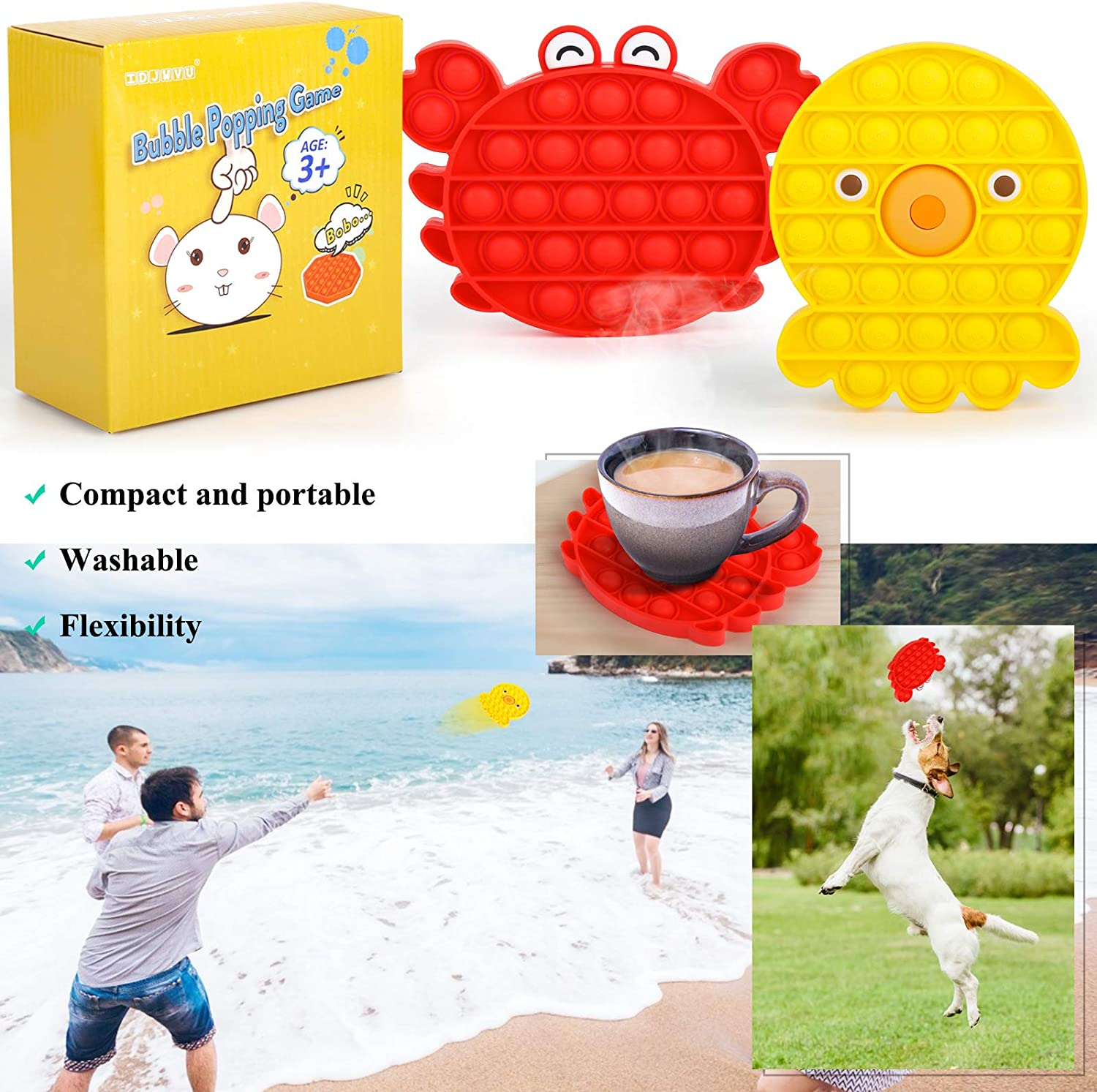 New Type of Fashionable Decompression Toy Used for Autism ADHD Special Needs Stress Reliever Silicone Squeeze Toy Fidget Bubble Sensory Toy