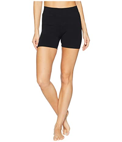 Hard Tail High-Rise Booty Shorts (Black) Women