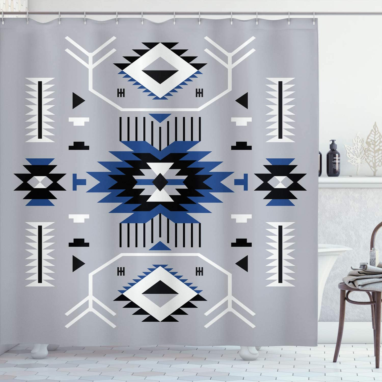 Ambesonne Southwestern Shower Curtain, Ethnic Illustration of a