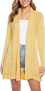 iClosam Womens Casual Long Sleeve Open Front Cardigan Knit Sweater