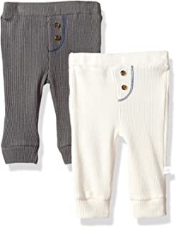 Baby Boys 2 Pack Waffle Knit Pant