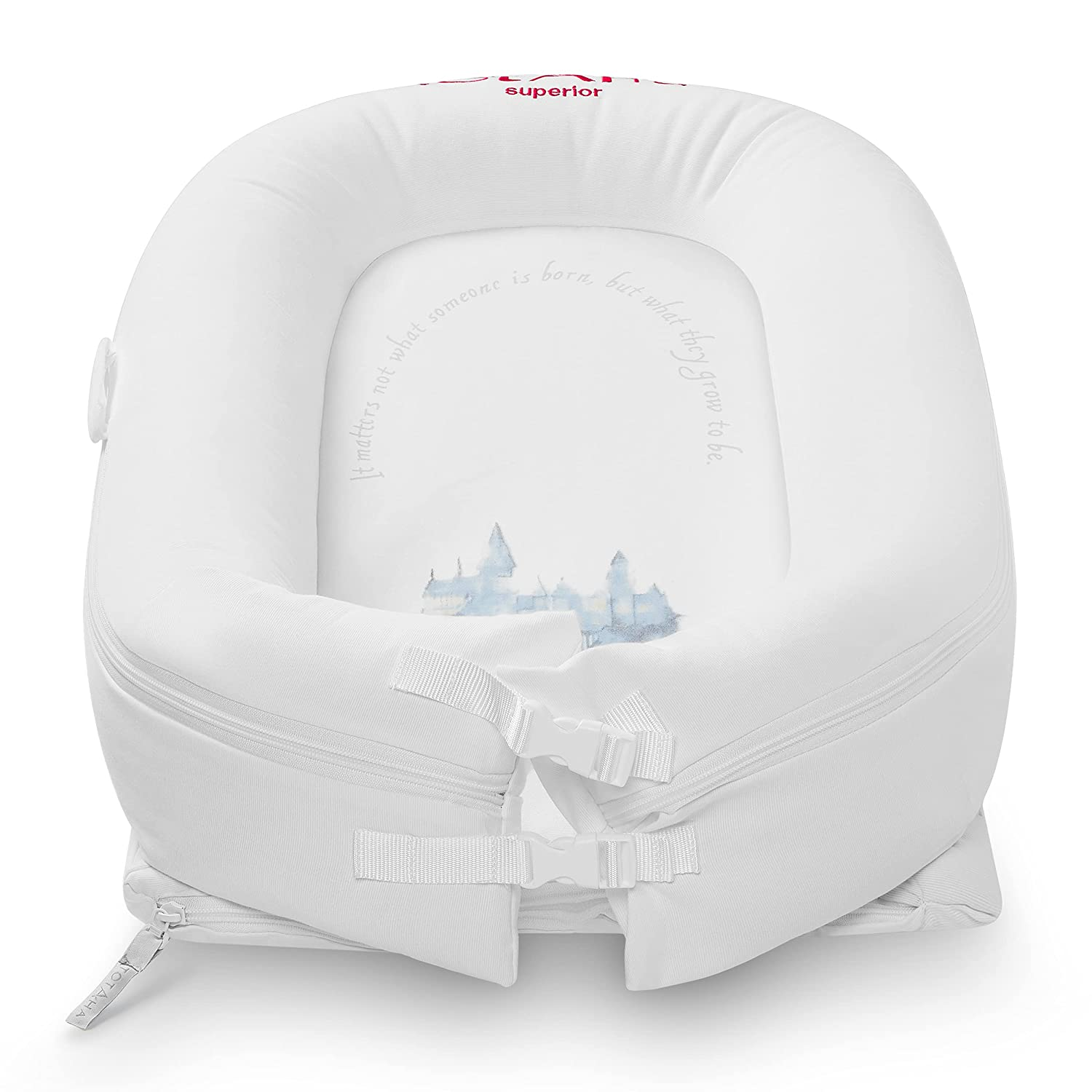 TotAha Newborn Baby Nest, Superior Dock for A Tot, Organic Cotton Baby Lounger, Secure Comfort Portable Baby Sleeper Bed Bassinet, Newborn Essentials Must-Haves for 0-12 Month -Magic Castle