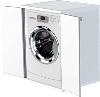 Adventa - Funda para Lavadora de Resina de PVC (Uso Interior/Exterior), Color Blanco, 68,5 x 64,5 x 88 cm