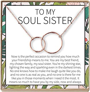 Dear Ava Necklace: BFF, Long Distance, Friends Forever, Friends, 2 Interlocking Circles