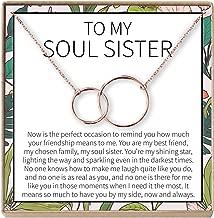 Dear Ava Necklace: BFF, Long Distance, Friends Forever, Friends, 2 Interlocking Circles