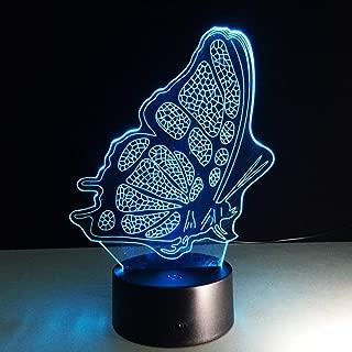 Luz nocturna de mariposa con caja de venta al por menor 7 colores Efecto de cambio Lámpara led Hogar Living Habitación para niños Decoración de dormitorio Carga Ahorro de energía