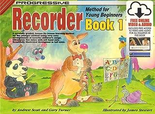 18337 - Progressive Recorder Method for Young Beginners Book 1 - Book/Online Video & Audio (Progressive Young Beginners)