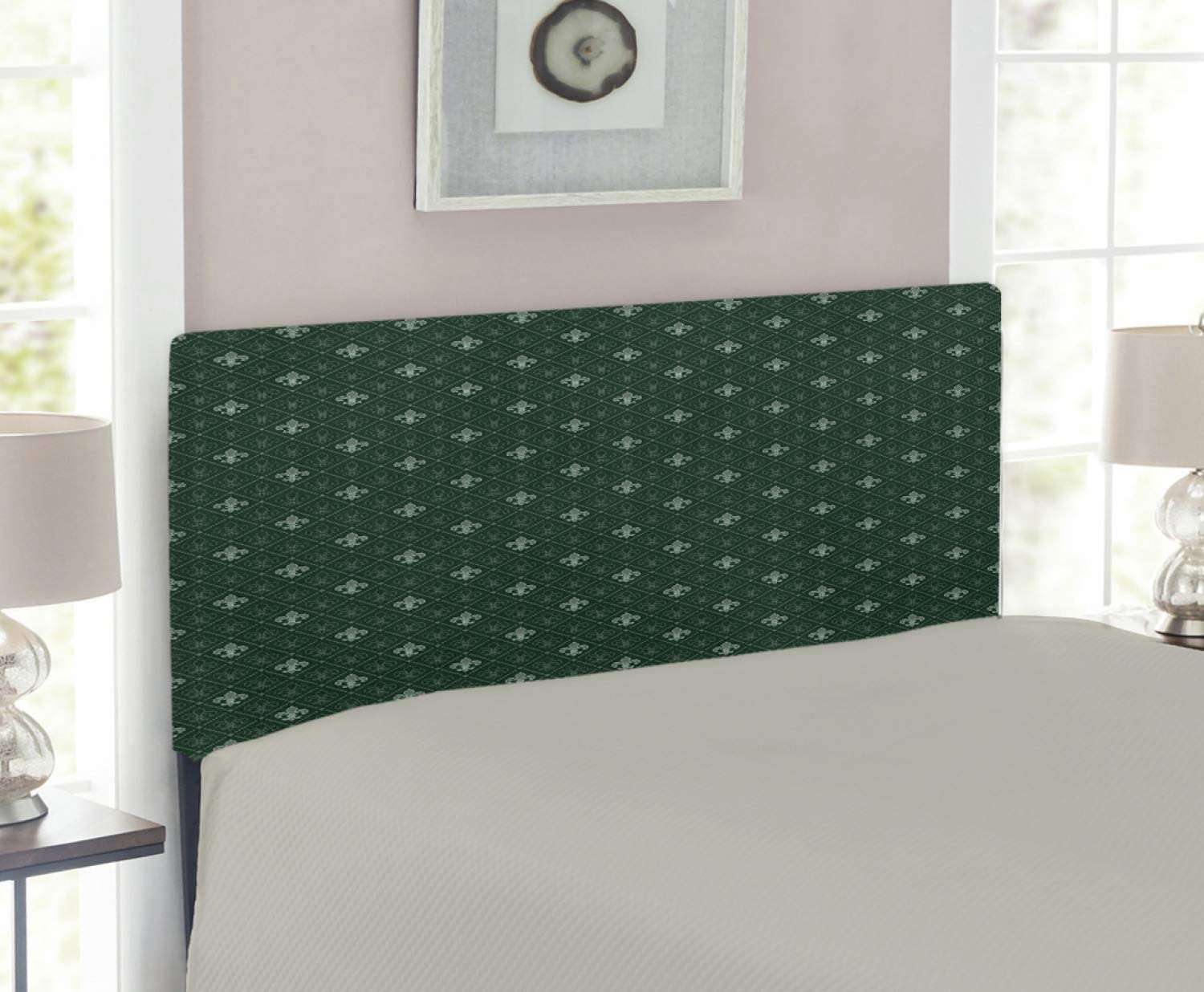 Ambesonne Fleur De Lis Headboard Direct store Pattern Frenc Medieval Department store Baroque