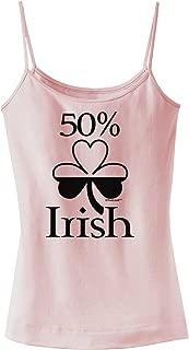 50 Percent Irish - St Patricks Day Spaghetti Strap Tank
