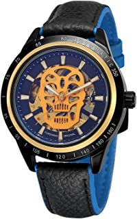 FORSINING Men's High-end Brand Automatic Self-Wind Leather Band Vogue Skeleton Watch