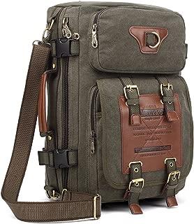 KAUKKO Outdoor Travel Men Backpack, Hiking Camping Canvas Rucksack