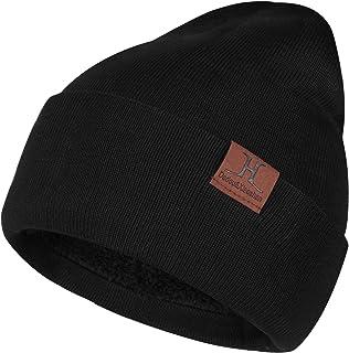 Men & Women Winter Warm Beanie Knit Hat Soft Slouchy Skull Cap with Fleece Lined