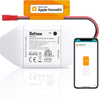 Smart Wi-Fi Garage Door Opener, Compatible with Apple HomeKit, Siri, Alexa & Google Assistant, No Hub Needed, Wireless Rem...