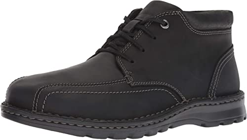 CLARKS Men's Vanek Mid Ankle Stiefel, schwarz Leather, 120 W US