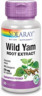 Solaray Guaranteed Potency Wild Yam Root Extract Root Extract, Veg Cap (Btl-Plastic) 275mg | 60ct