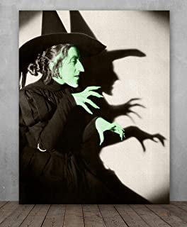 Poster - Wizard of OZ Wicked Witch of the West - Choose Unframed Poster or Canvas - Makes a Great Gift for Halloween Decor