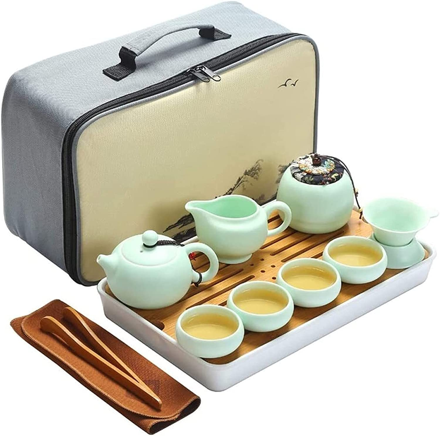 Exquisite San Francisco Mall Teapot Portable Storage Bag Home Car Travel 4 People Overseas parallel import regular item
