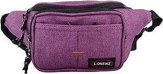 Mens/Womens Soft Polyester Bum Bag/Waist Bag with Multiple Pockets