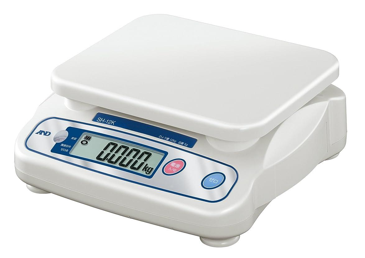 開梱自我統治可能A&D デジタルはかり SH-12KN ?ひょう量:12kg 最小表示:0.005kg 皿寸法:230(W)*190(D)mm JCSS校正付?