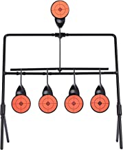 Hiram Resetting Target with Portable Design and Shooting Spots, Rated for .22 Rimfire