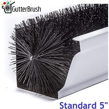 Gutterbrush Simple Gutter Guard For Standard 5 Gutters Easy No Tools Diy Gutter Leaf Guard 120 Ft Gutter Downspouts Amazon Com