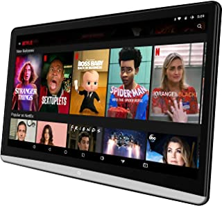 12.5 inch Android 8.1 Tablet with WiFi Car Headrest Video Player TV Monitor, 1920X1080 IPS Touch Screen, Support Bluetooth/HDMI in/Out/FM USB Micro SD Card