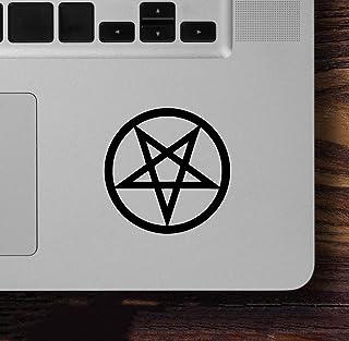 Minglewood Trading Set von 2 (2) Inverted Pentagramm 6,3 x 6,3 cm Vinyl Aufkleber – Okkult Symbol Wicca Magic Hexcraft – gestanzte Aufkleber – 20 Farben erhältlich Rot MT3002153 red