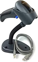 Datalogic QD2430 QuickScan Handheld Omnidirectional Barcode Scanner/imager(1-D, 2-D and PDF417) with USB Cable and Stand, Black, QD2430-BKK1S