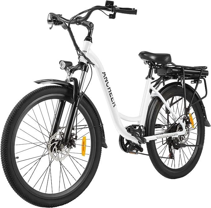 ANCHEER - Bicicleta Eléctrica 26