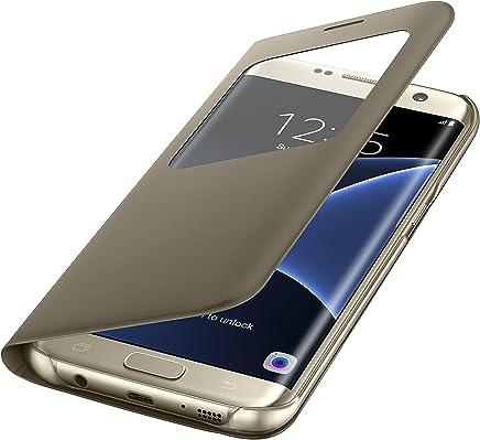 Samsung S View Cover - Funda para Samsung Galaxy S7 Edge, color Dorado