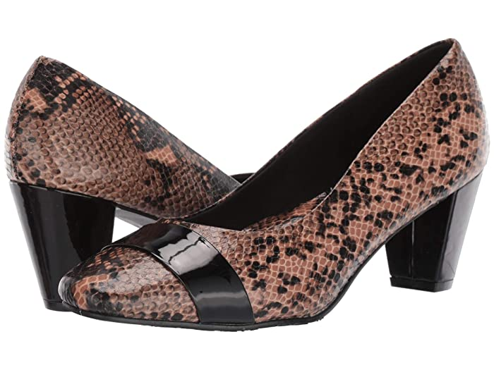 Soft Style  Mabry (Natural Python) Womens 1-2 inch heel Shoes