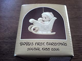 Precious Moments Ornament - Baby's first Christmas Special 1988 Issue (Girl) #520241