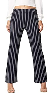 Women's Stretch Pants - Striped - Elastic Waist - All Day Comfort