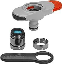 Raccord pour robinets d'eau intérieurs GARDENA: Raccord pour robinets d'eau intérieurs, adaptateur pour tête à jet aéré incl., clé pour insertion facile, pour cuisine et salle de bain (18210-20)