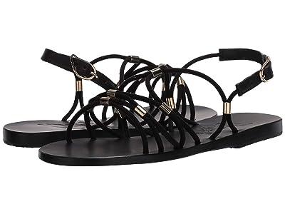 Ancient Greek Sandals Pasifai (Black/Platinum Tubes) Women