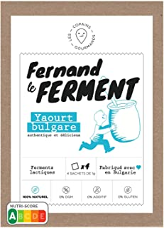 Fernand le Ferment Bio par nature, 100% ferments lactiques sans additifs, authentique yaourt bulgare, paquet de 4 sachets,...