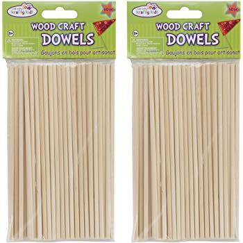"Wood Craft Dowels 6"" Long x 5/32"" Thick 