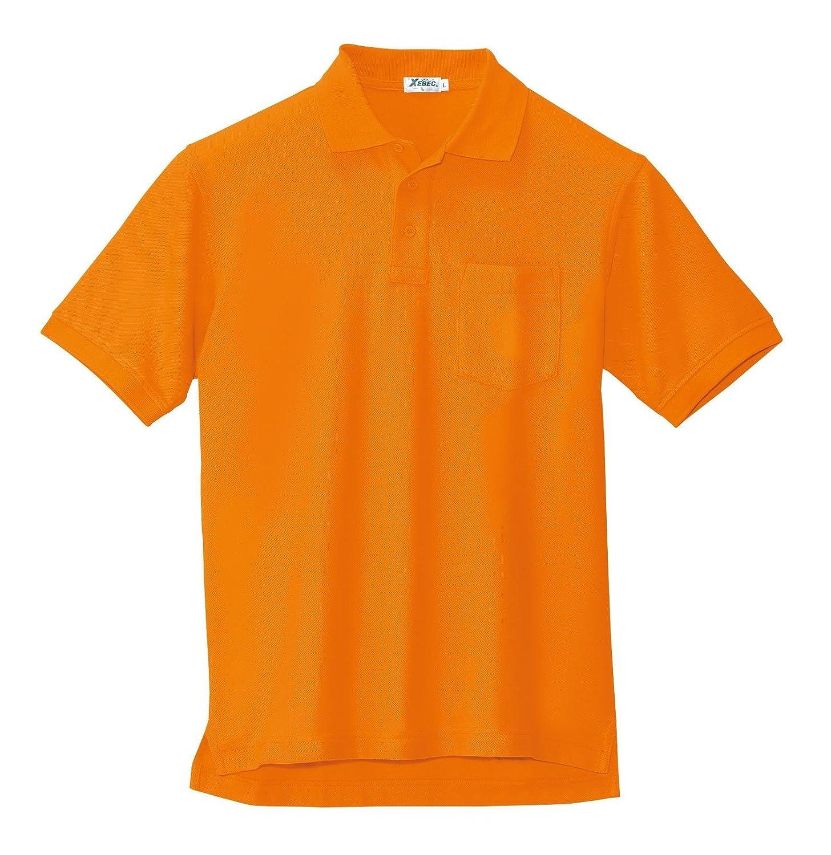 [ジーベック] 半袖ポロシャツ 大きいサイズ 82/オレンジ 6170 5L