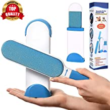 Smart Saver Pet Hair, Dust, Lint Remover Brush for Clothing and Furniture (Double Sided, Self-Cleaning and Reusable, Blue)