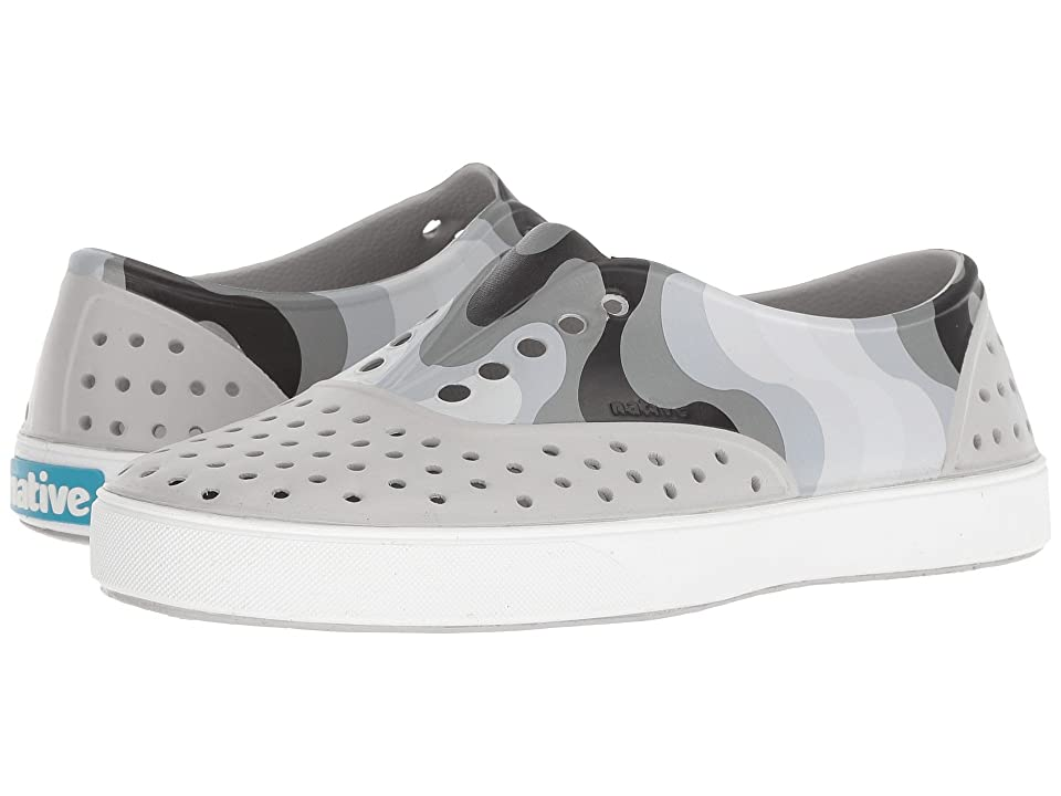 Native Shoes Miller (Mist Grey/Shell White/Dublin Wave) Slip on Shoes